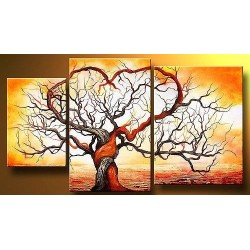 Fire Tree | Oil Painting Abstract art Gallery