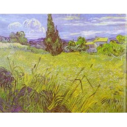 Green Wheat Field with Cypress by Vincent Van Gogh - Art gallery oil painting reproductions