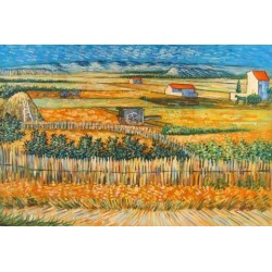 Harvest Landscape by Vincent Van Gogh- Art gallery oil painting reproductions
