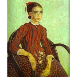 La Mousme Seated in a Cane Chair by Vincent Van Gogh - Art gallery oil painting reproductions