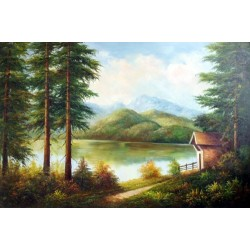 Landscape 15-0023 oil painting art gallery