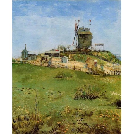 Le Moulin de la Gallette 2 by Vincent Van Gogh