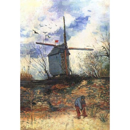 Le Moulin de la Gallette 3 by Vincent Van Gogh