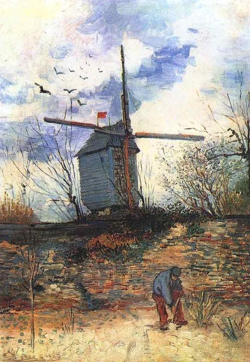 Le Moulin de la Gallette 3 by Vincent Van Gogh