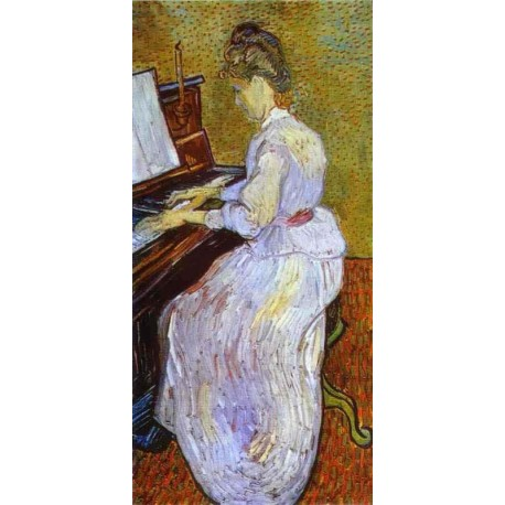 Mademoiselle Gachet at Piano by Vincent Van Gogh