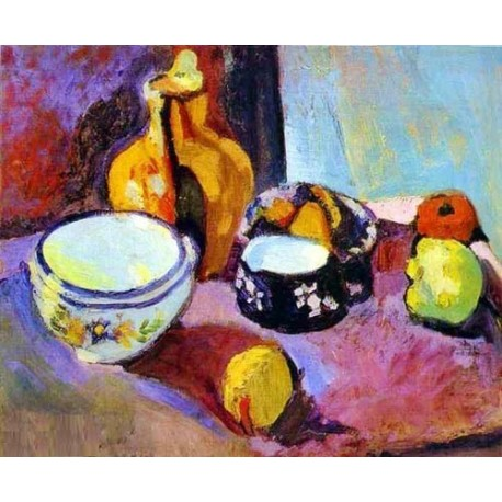 Dishes and Fruit By Henri Matisse oil painting art gallery