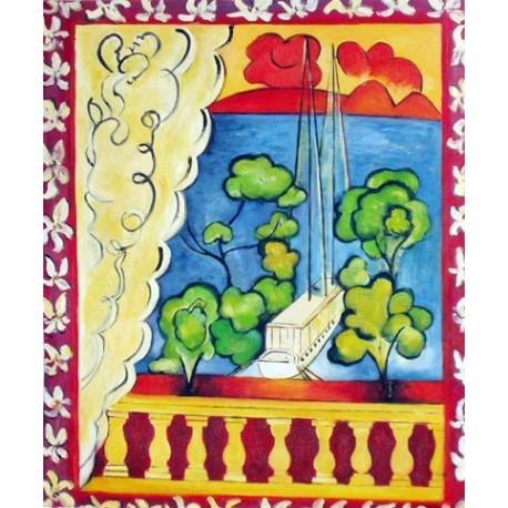 Fenetre a Tahiti By Henri Matisse oil painting art gallery