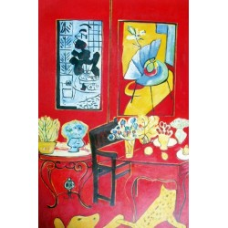 Large Red Interior By Henri Matisse oil painting art gallery