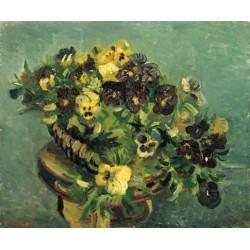 Mand Met Viooltjes op in Tafel by Vincent Van Gogh