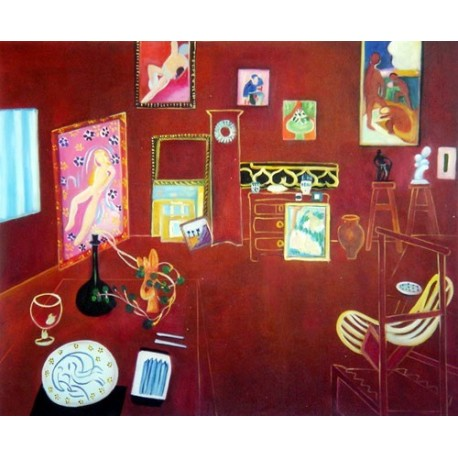 The Red Studio By Henri Matisse oil painting art gallery