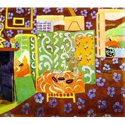 Interior in Aubergines By Henri Matisse oil painting art gallery