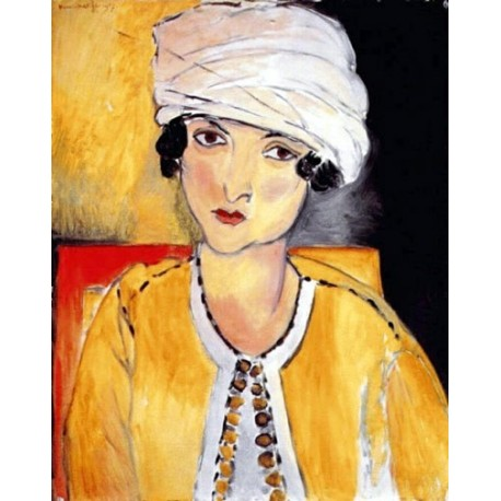 Lorette with Turban Yellow Jacket By Henri Matisse oil painting art gallery