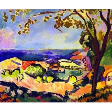 Sea at Collioure Table By Henri Matisse oil painting art gallery