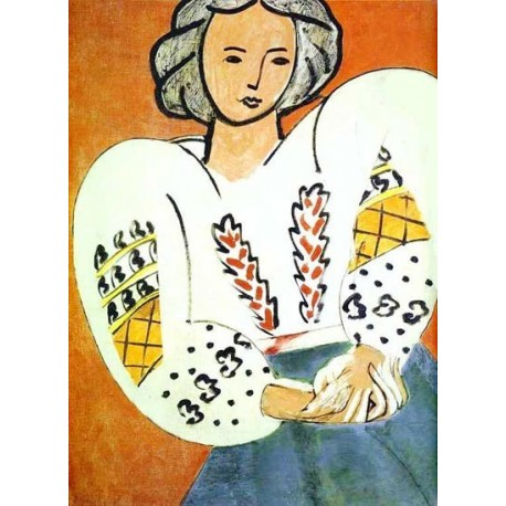 The Rumanian Blouse By Henri Matisse oil painting art gallery