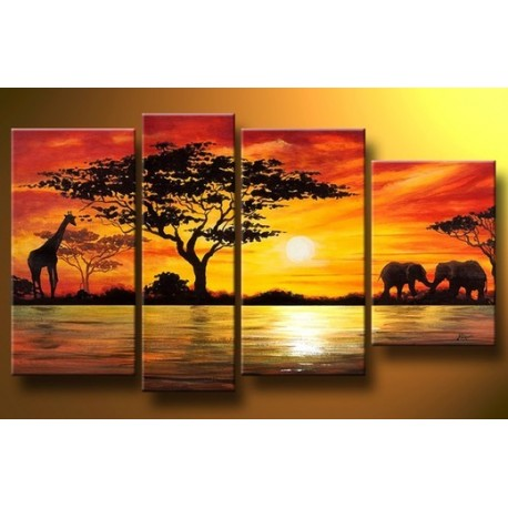 Africa ii abstract oil painting on sale for Canvas art on sale