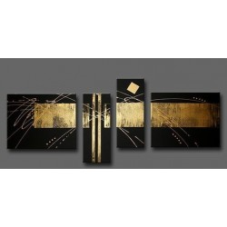 Black & Bronze | Oil Painting Abstract art Gallery