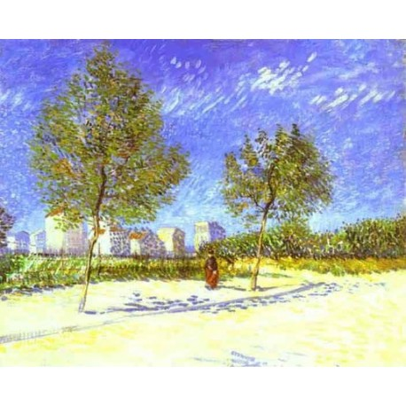 On the Outside of Paris by Vincent Van Gogh