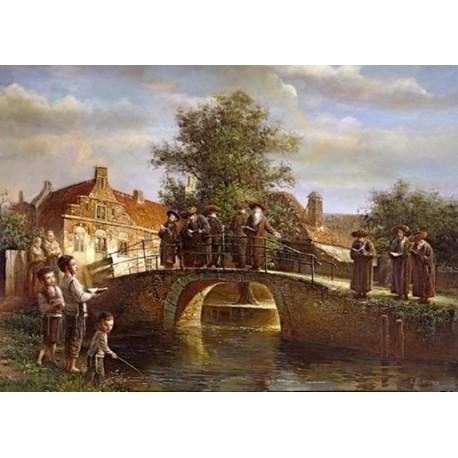 Elena Flerova - Blessing on the water | Jewish Art Oil Painting Gallery