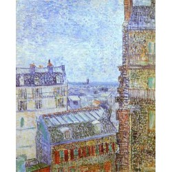 Paris Seen from Vincent by Vincent Van Gogh - Art gallery oil painting reproductions