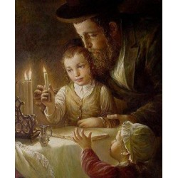 Elena Flerova - Channukah | Jewish Art Oil Painting Gallery