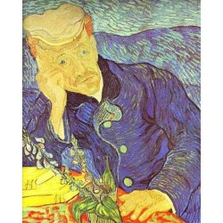 Portrait of Dr. Gachet by Vincent Van Gogh - Art gallery oil painting reproductions