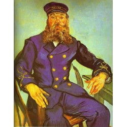 Postman Joseph Roulin by Vincent Van Gogh- Art gallery oil painting reproductions