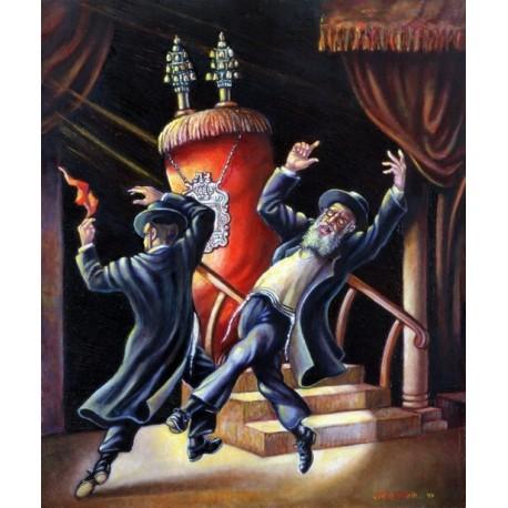 Israel Rubinstein - Simchat Torah | Jewish Art Oil Painting Gallery