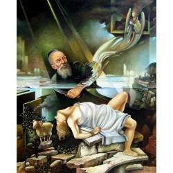 Israel Rubinstein - Isaacs Sacrafice | Jewish Art Oil Painting Gallery