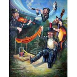 Israel Rubinstein - Kliezmers | Jewish Art Oil Painting Gallery
