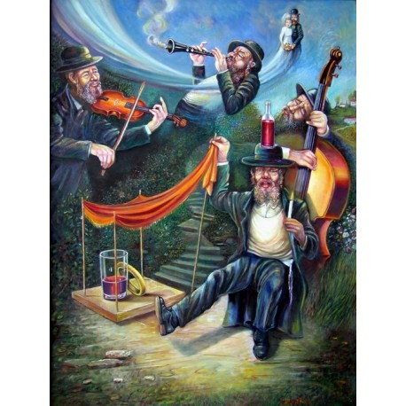Israel Rubinstein - Kliezmers | Jewish Art Oil Painting Gallery