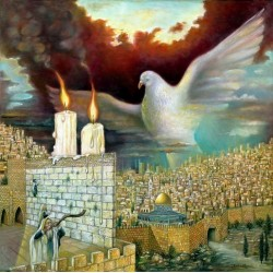 Israel Rubinstein - Dove Of Peace | Jewish Art Oil Painting Gallery