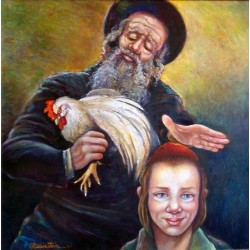 Israel Rubinstein - Caparot | Jewish Art Oil Painting Gallery