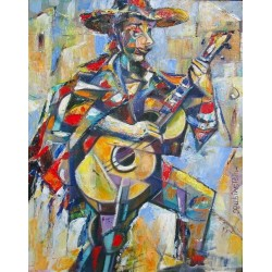 Israel Rubinstein - The Mexican Jew | Jewish Art Oil Painting Gallery