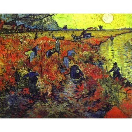 Red Vineyards of Arles by Vincent Van Gogh - Art gallery oil painting reproductions