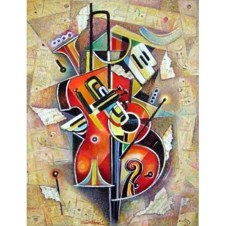 Israel Rubinstein - Music I | Jewish Art Oil Painting Gallery