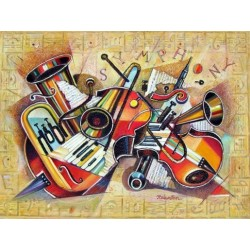 Israel Rubinstein - Music II | Jewish Art Oil Painting Gallery