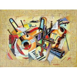 Israel Rubinstein - Music V | Jewish Art Oil Painting Gallery