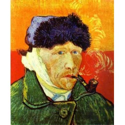 Self Portrait with a Pipe by Vincent Van Gogh - Art gallery oil painting reproductions