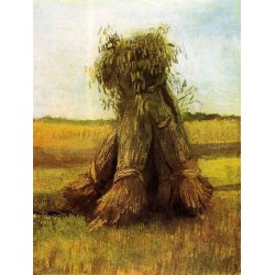 Sheaves of Wheat in a Field by Vincent Van Gogh - Art gallery oil painting reproductions