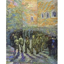 The Prison Courtyard by Vincent Van Gogh - Art gallery oil painting reproductions