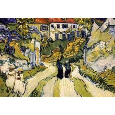 Stairway At Auvers by Vincent Van Gogh - Art gallery oil painting reproductions