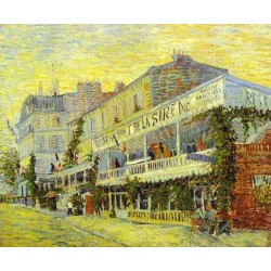 The Restaurant dela Sirene by Vincent Van Gogh - Art gallery oil painting reproductions