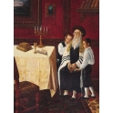 Victor Brindatch - Granpah | Jewish Art Oil Painting Gallery