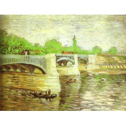 The Siene with the Pont de la Grande Jatte by Vincent Van Gogh -Art gallery oil painting reproductions