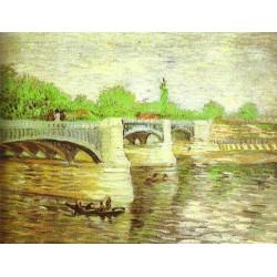 The Siene with the Pont de la Grande Jatte by Vincent Van Gogh -Art gallery oil painting reproductions