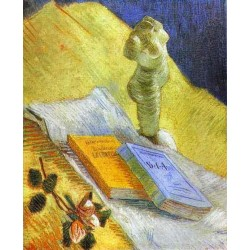 Still Life with a Statuette by Vincent Van Gogh - Art gallery oil painting reproductions
