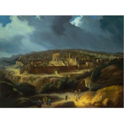 Steve Karro - Back to Jerusalem | Jewish Art Oil Painting Gallery