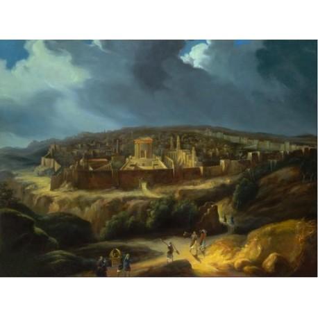 Steve Karro - Back to Jerusalem | Jewish Art Oil Painting Gallery