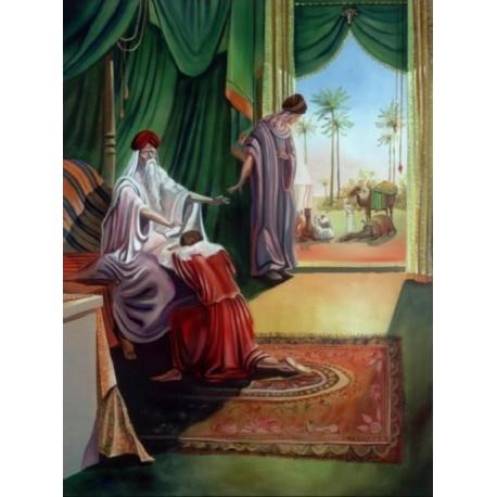 Steve Karro - Blessing of Jacob | Jewish Art Oil Painting Gallery