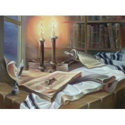 Steve Karro - Book of life | Jewish Art Oil Painting Gallery